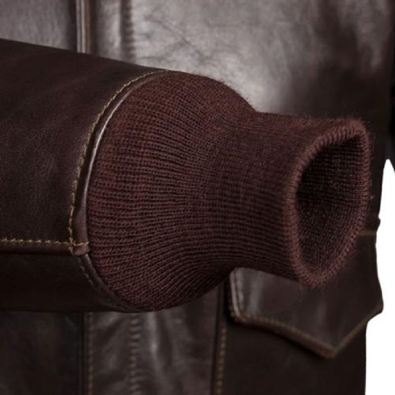 Chocolate Brown A-2 Bomber Jacket,