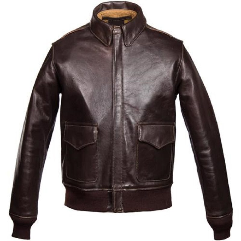 Chocolate Brown A-2 Bomber Jacket