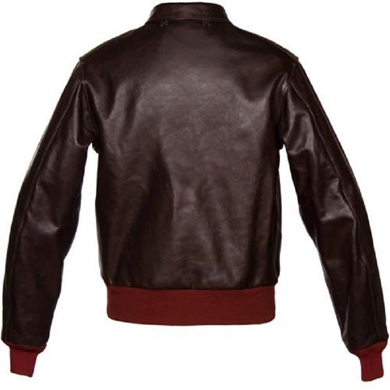 Dark Brown A-2 Jerky Horsehide Jacket-