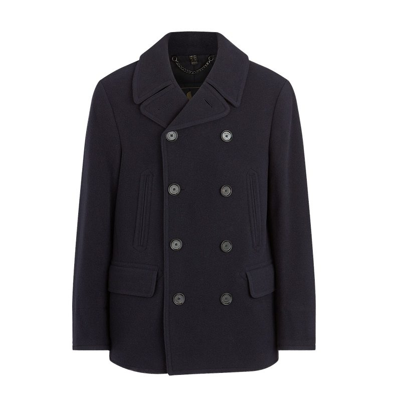 Dark Naval Wool Pea Coat