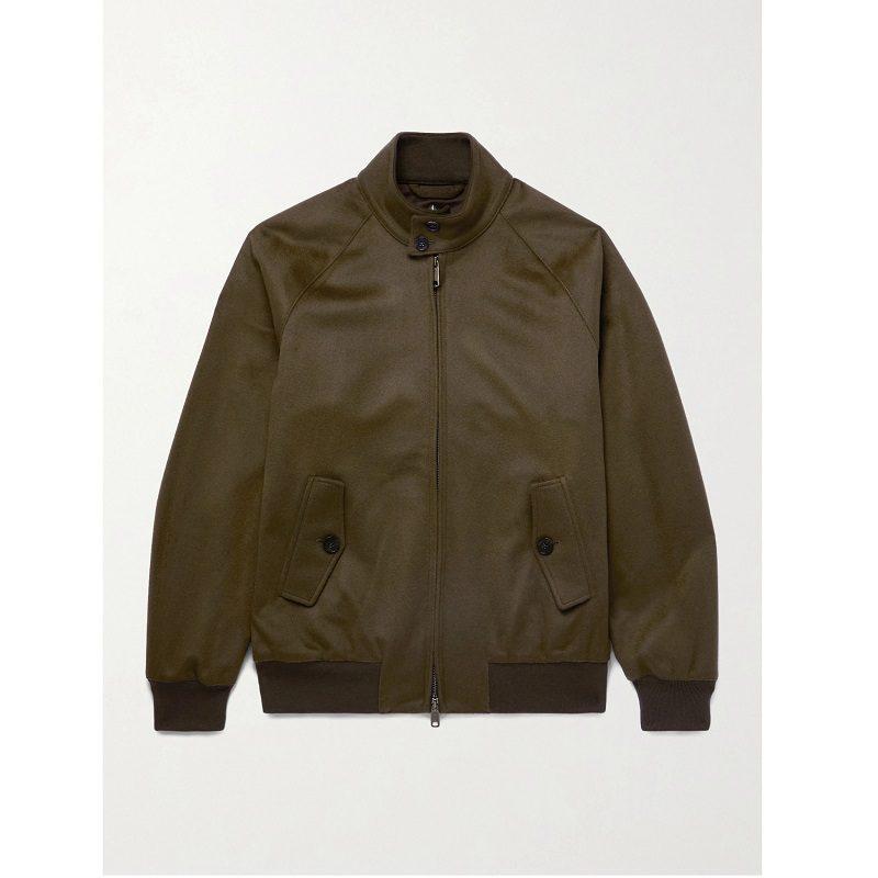 G9 Harrington Slim-Fit Wool & Cashmere-Blend Jacket.