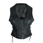 High mileage lace sides leather vest