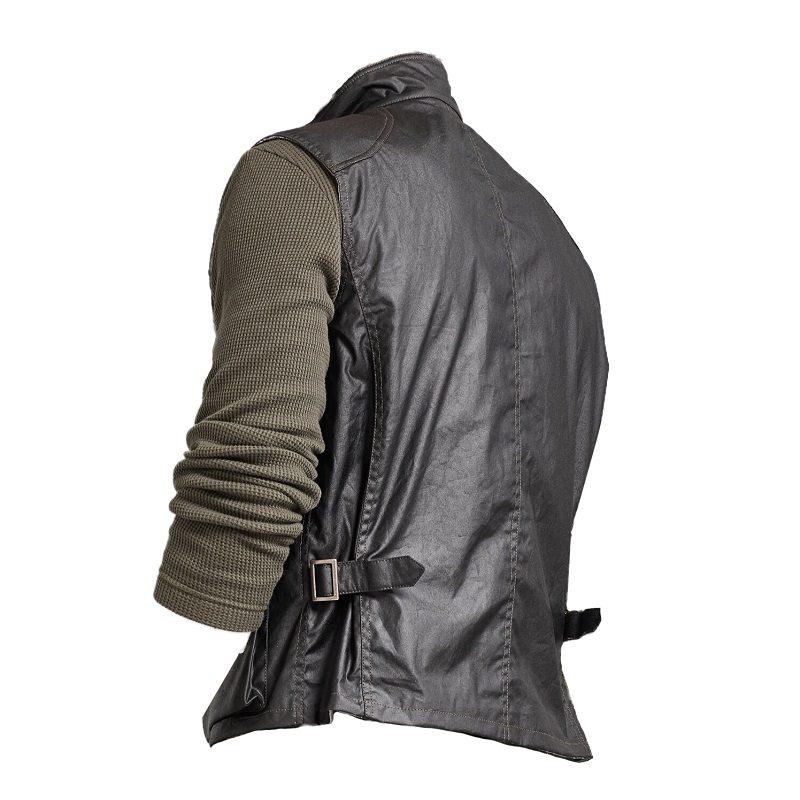 Men's Black Cotton Waxed Vest-