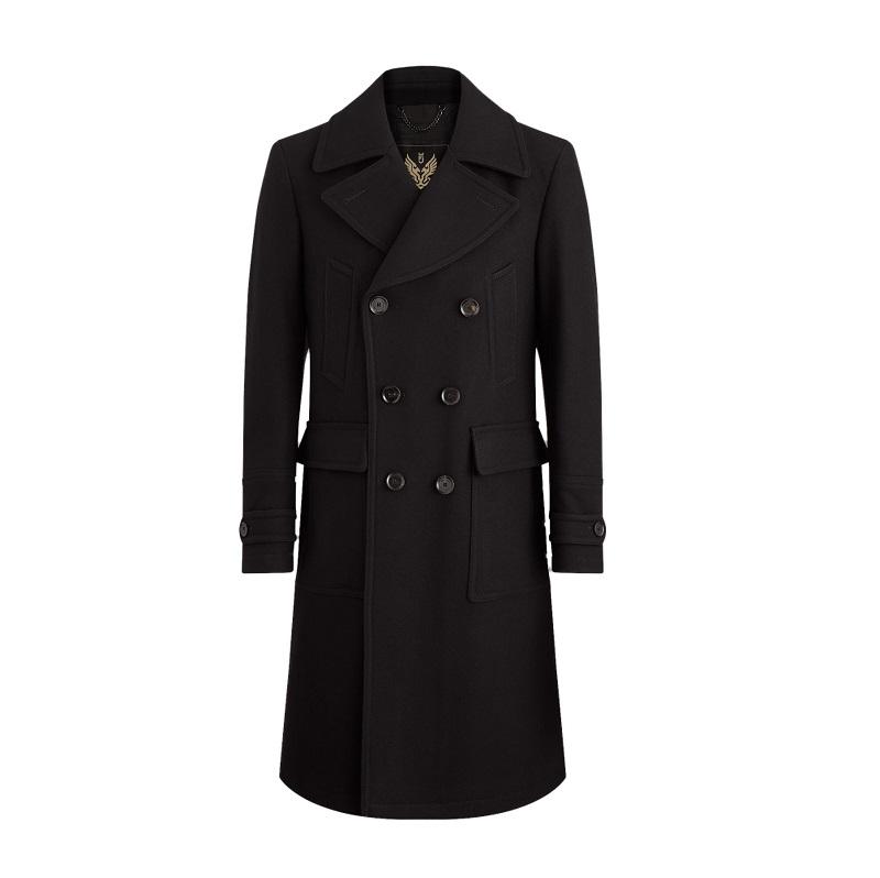 Men's Milford Black Pea Coat