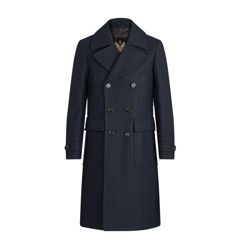 Men's Milford Blue Pea Coat-