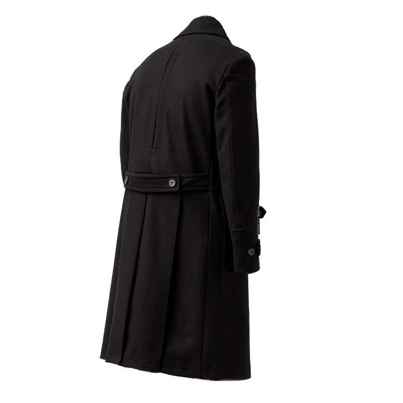 Men's Milford Charcoal Black Pea Coat-