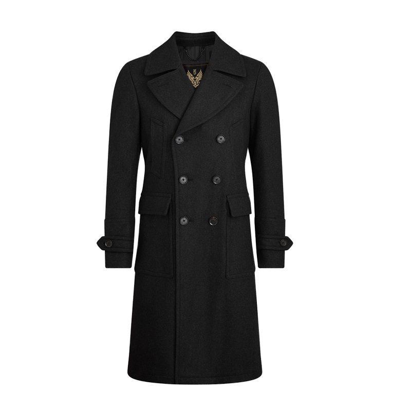 Men's Milford Charcoal Black Pea Coat