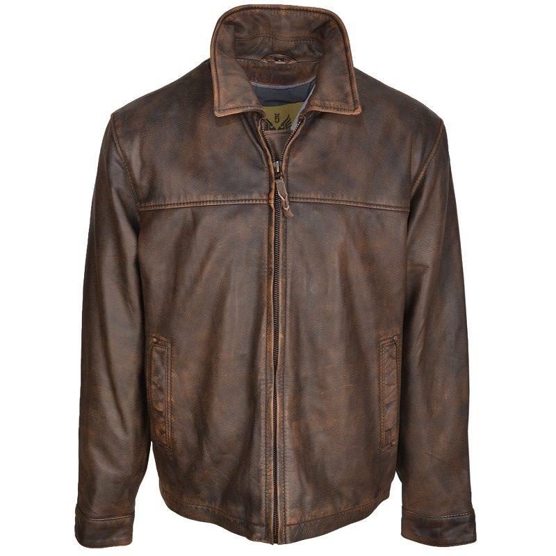 Men's Rifleman Brown Leather Jacket