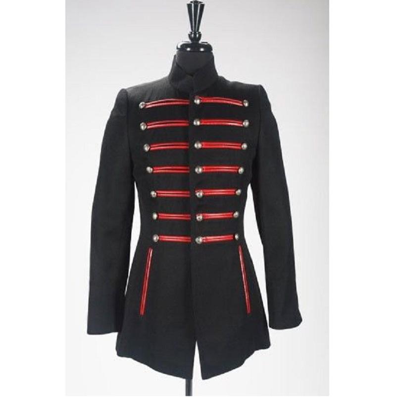 Military Gothic Steampunk Navy Blue Jacket