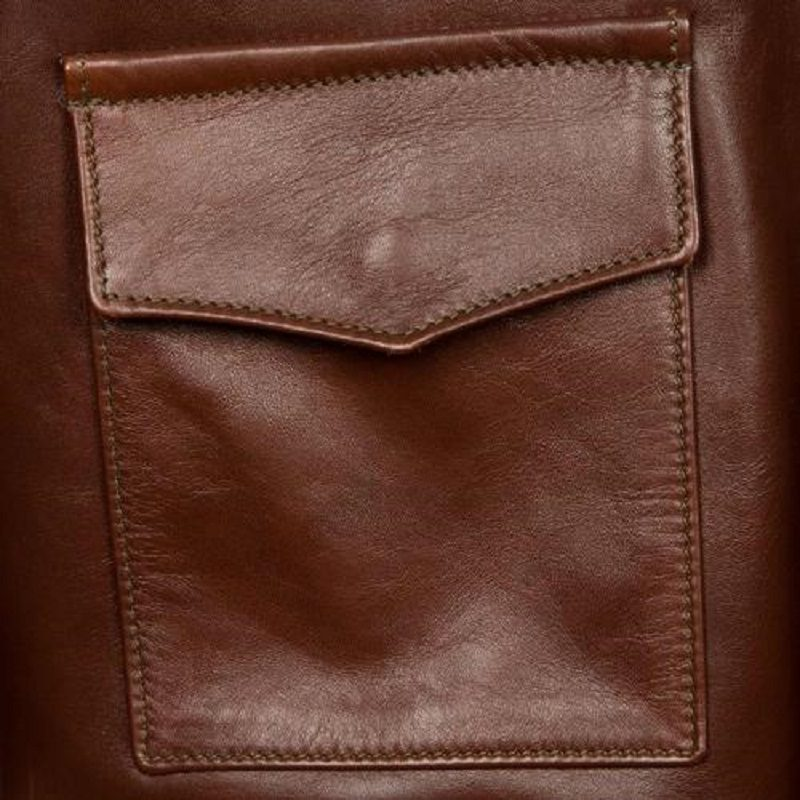 Military Horsehide Leather A-2 Bomber Jacket-