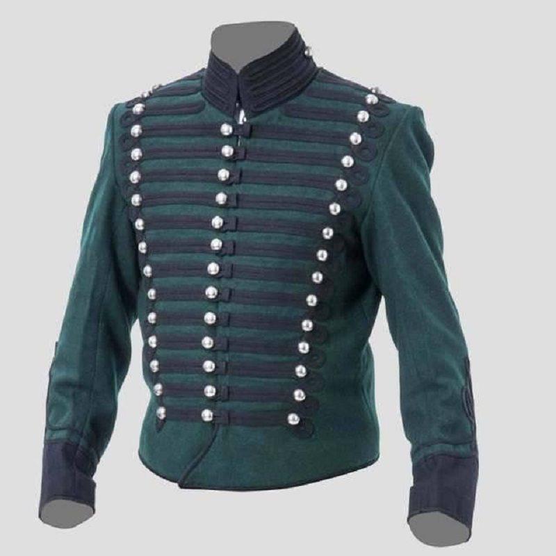 Military Parade Blue Hussar Steampunk Jacket