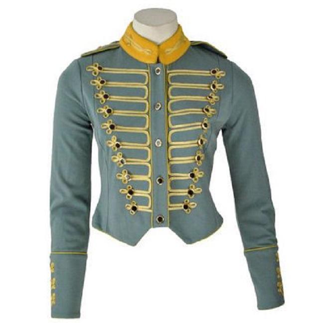 Military Parade Gothic Blue Short Jacket