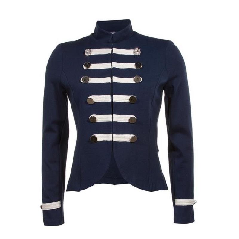 Military Parade Steampunk Blue Jacket