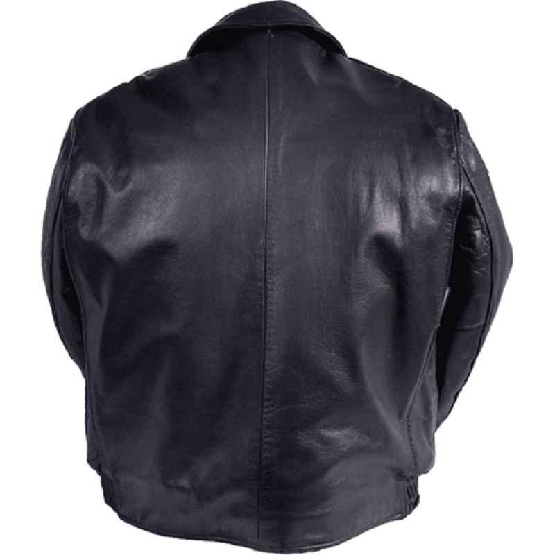 Nate Leather Classic Chicago Style Civilian Jacket