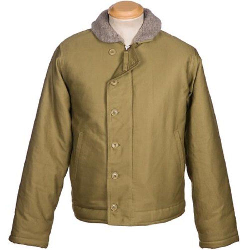 US Beige N-1 Whipcord Deck Jacket