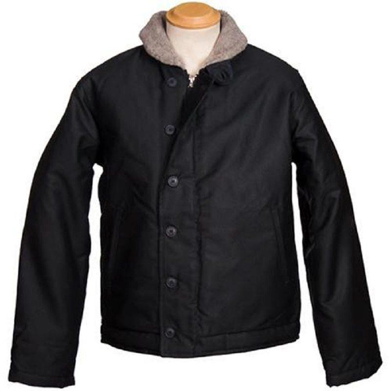 US Black N-1 Whipcord Deck Jacket