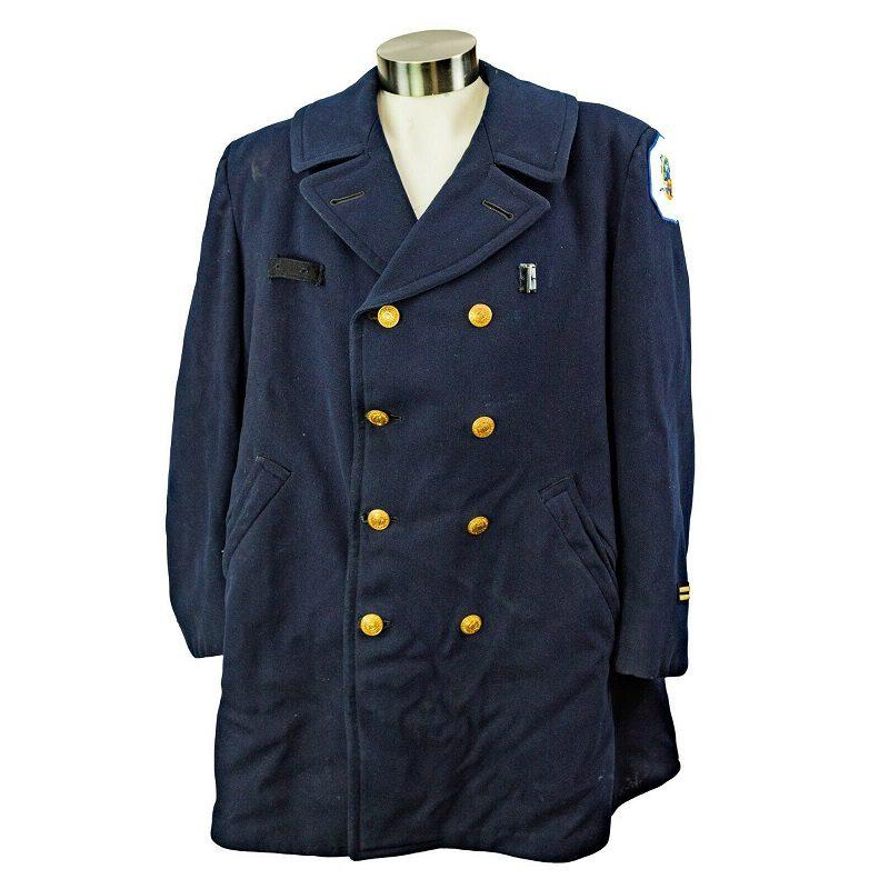 Vintage Chicoago Uniform Pea Coat Jacket