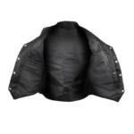 Women Black V-neck Biker Leather Vest