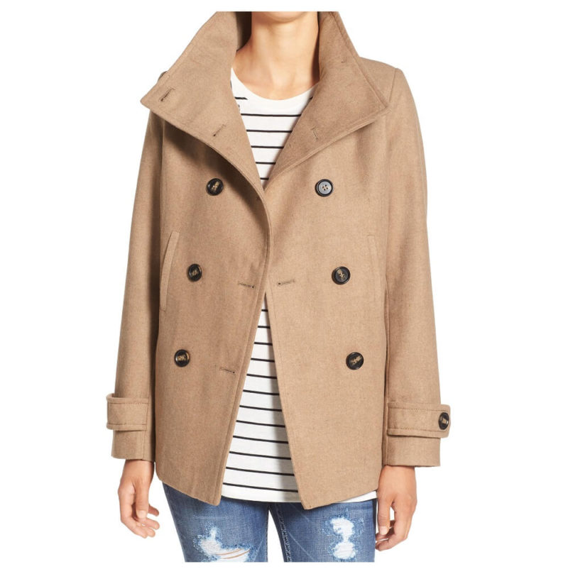 Double breated Camel peacoat-