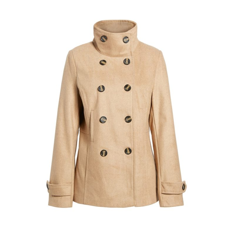 Double breated Camel peacoat