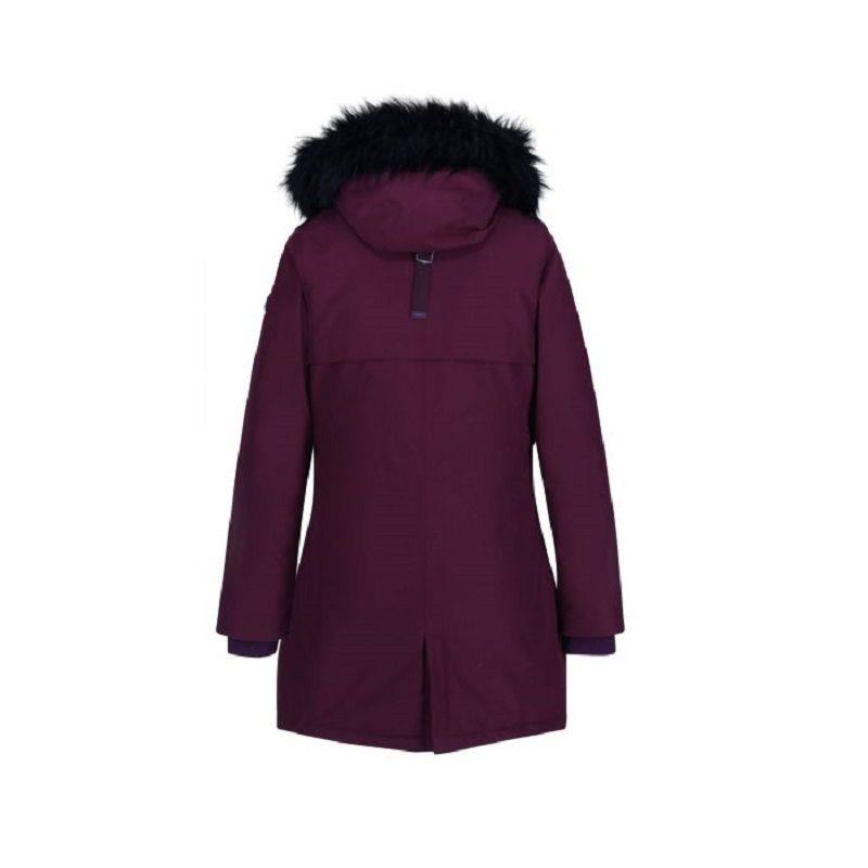Insulated trimmed burgundy parka jacket-