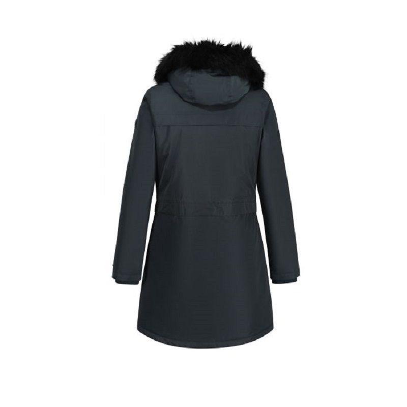 Insulated trimmed darkest spruce parka jacket-