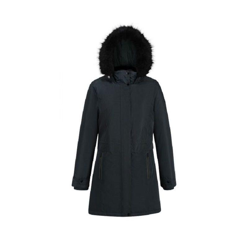 Insulated trimmed darkest spruce parka jacket