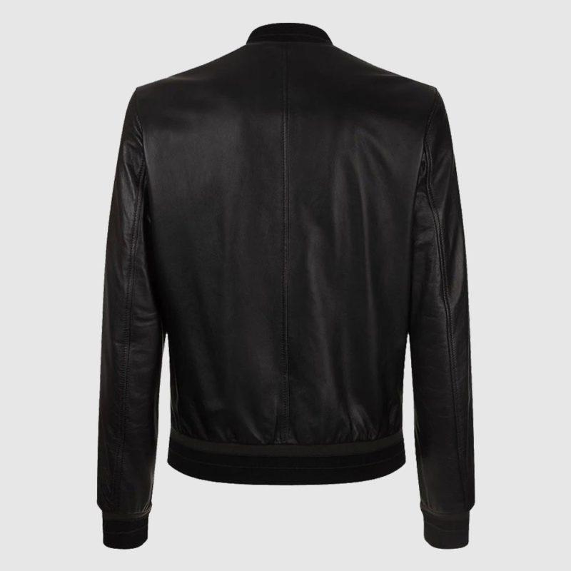 Men's Leather Lambskin Bomber Jacket-
