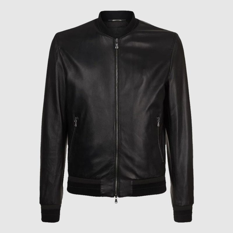 Men's Leather Lambskin Bomber Jacket