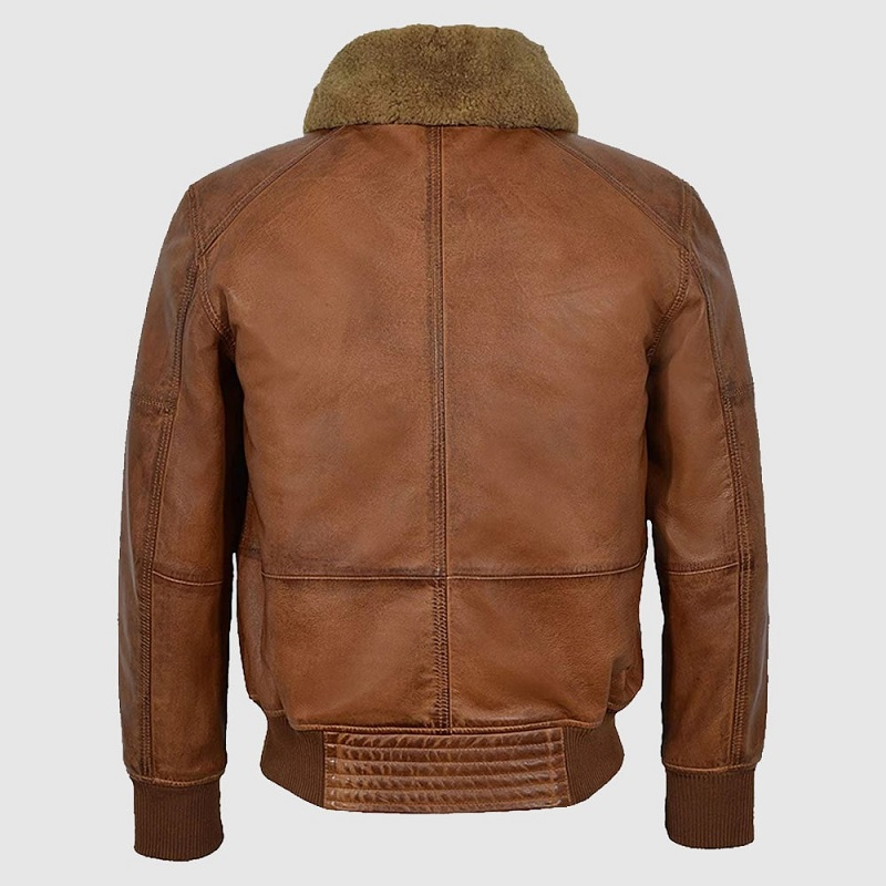 AIR Force Brown Fur Collar Bomber jacket