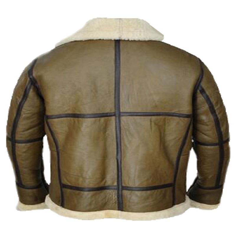 Army Greenish Brown Shearling jacket