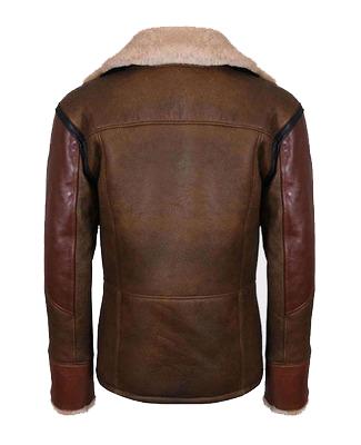 Aviator Raf B3 Men's Leather Bomber Jacket