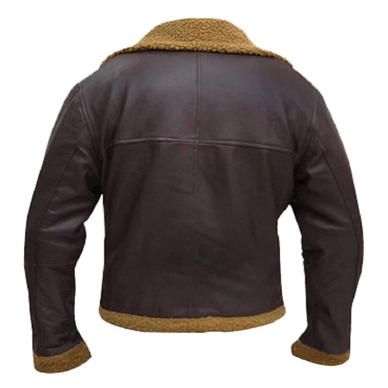 B3 Aviator Shearling Bomber Leather Jacket