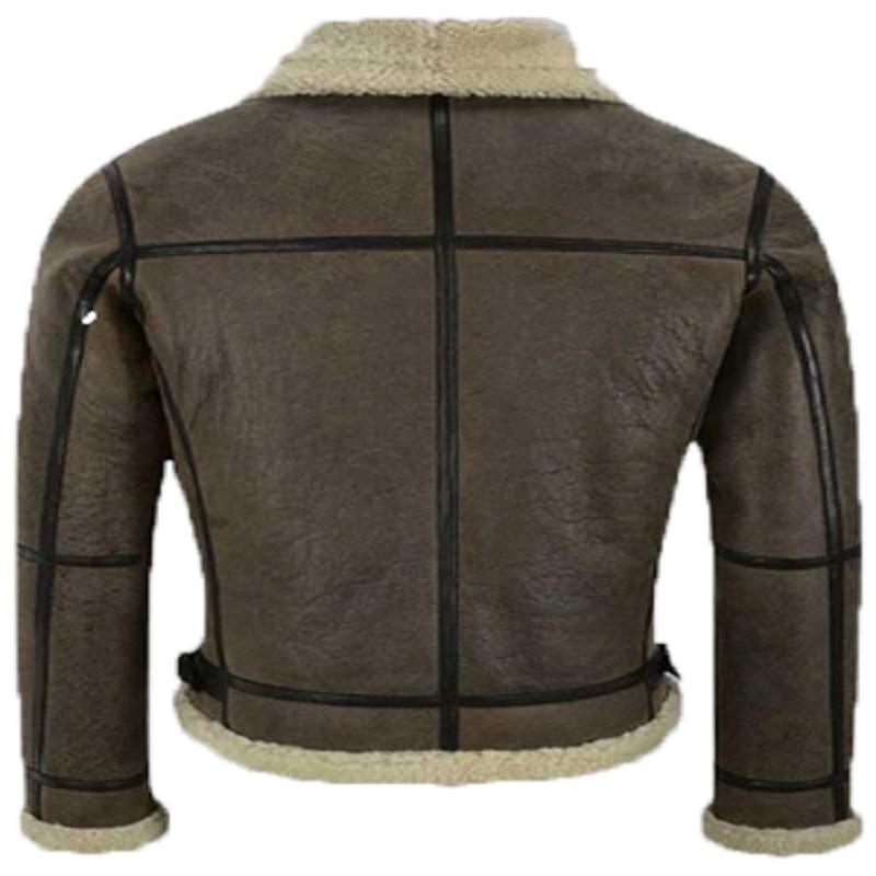 B3 Brown Air-Force Shearling Jacket