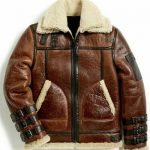 B3 Brown Sheepskin Leather Jacket