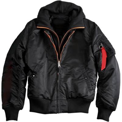 Black Flyer Bomber Jacket For Men