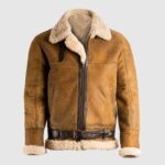 Brown B3 Shearling Leather Jacket