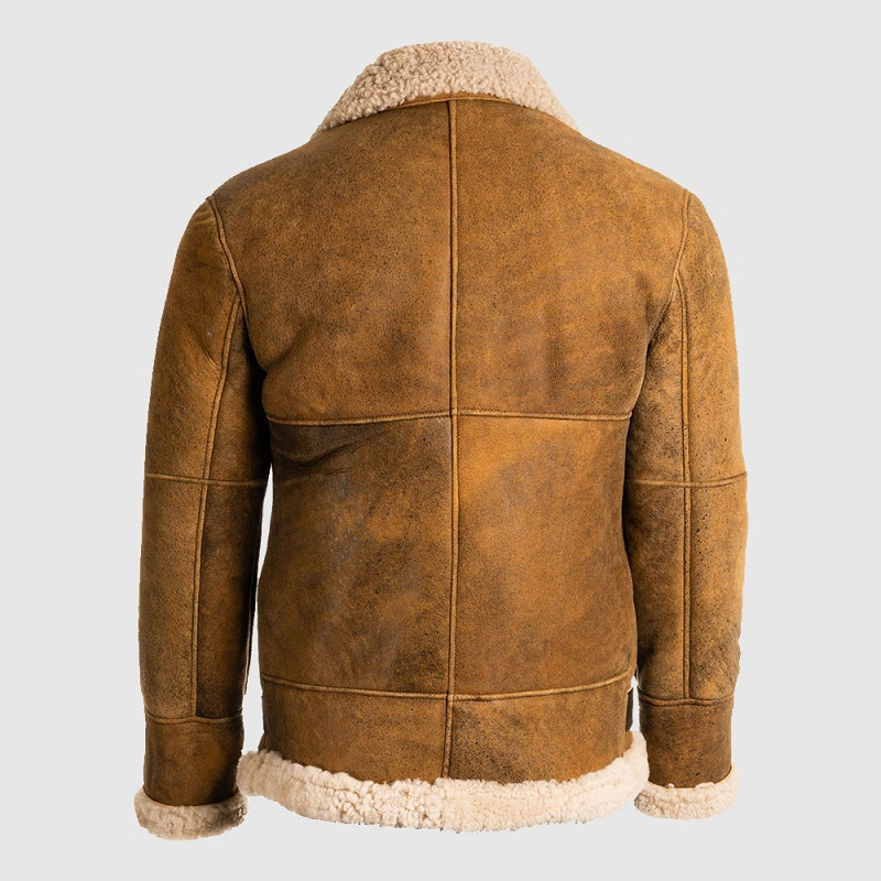 Brown Shearling B3 Leather Jacket