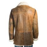 Brown Shearling Leather Men Coat