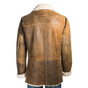 Brown Sheep skin Leather Men Coat