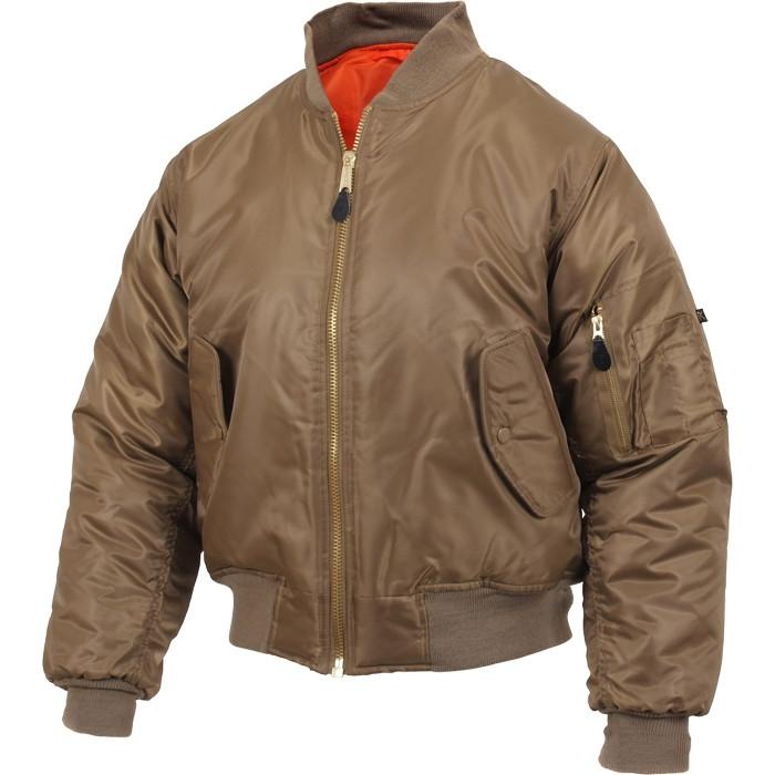 Coyote Brown MA-1 Bomber Flight Jacket