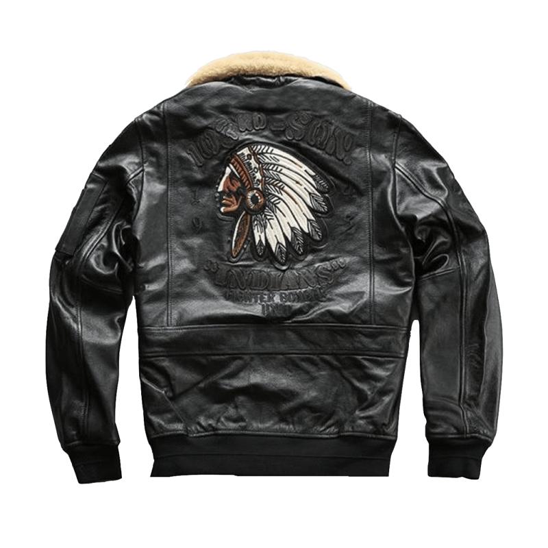 Genuine Leather Air Force Pilot Blackk Jacket