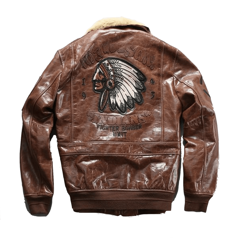 Genuine Leather Air Force Pilot Brown Jacket