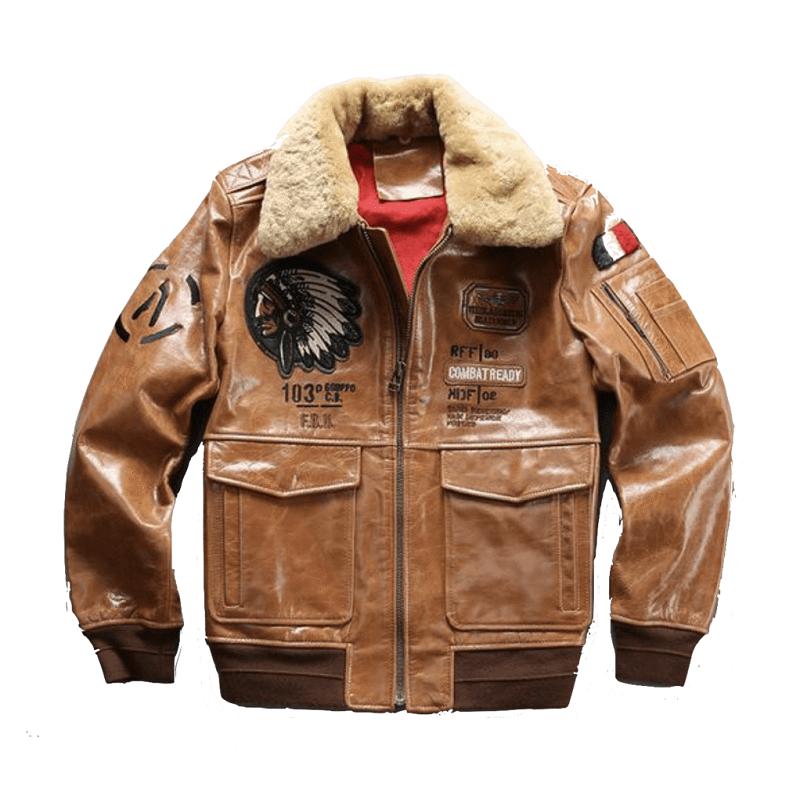 Genuine Leather Air Force Pilot Camel color Jacket
