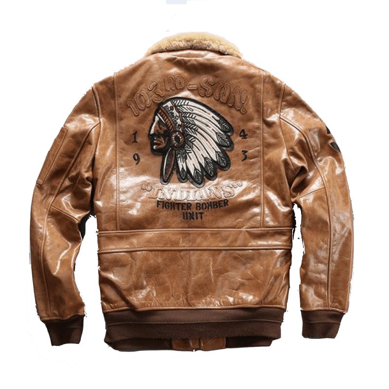 Genuine Leather camel color Air Force Pilot Jacket