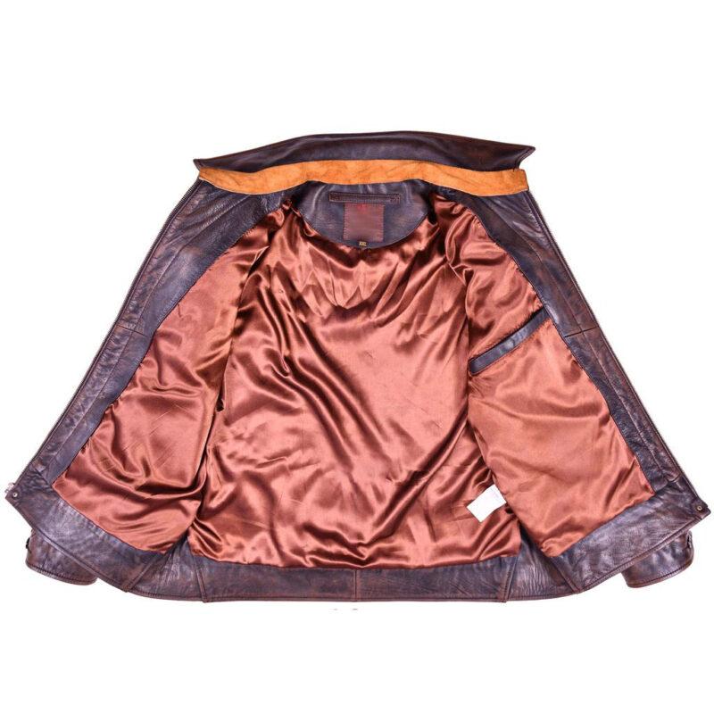Goatskin Brown Leather Ranch Jacket