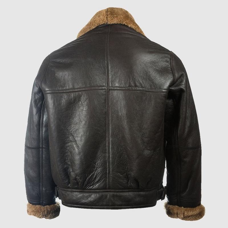 Men B3 Black Sheepskin Jacket