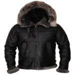 Men Shearling Hoodie Jacket
