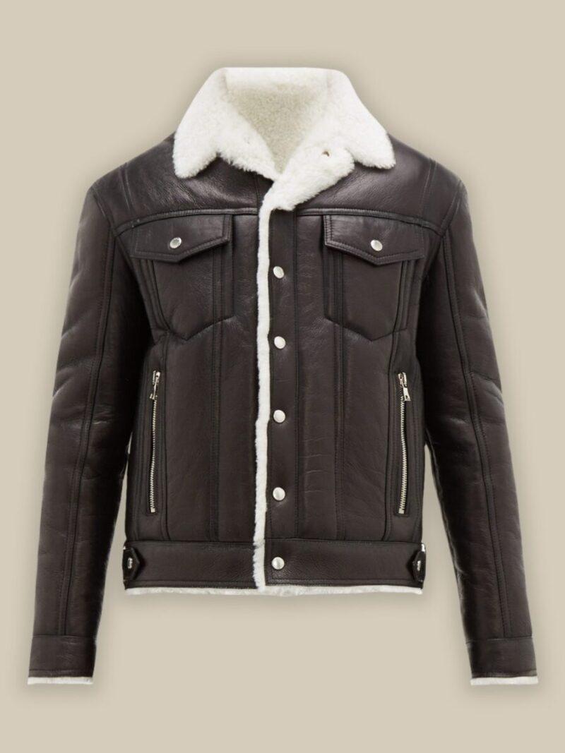 Men Streetstyle Shearling Jacket