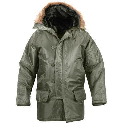 N-3B Sage Green Parka Jacket